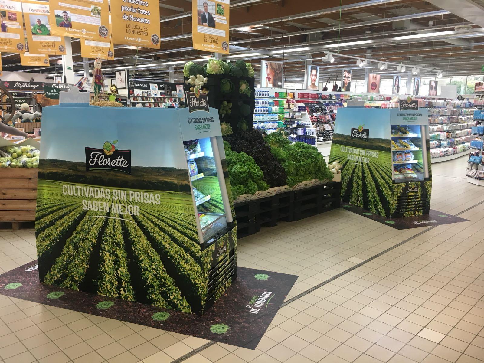 Corner comercial Florette en E. Leclerc